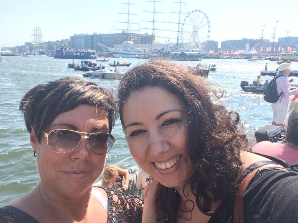 My dear friend Sjaan en myself Sail Amsterdam