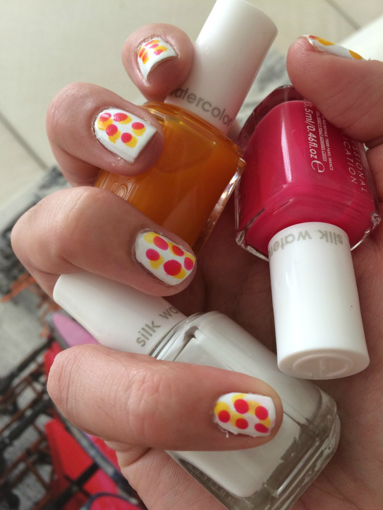 Essie Silk Watercolors collection 2015 White Page, Love Sheen and Muse, Myself