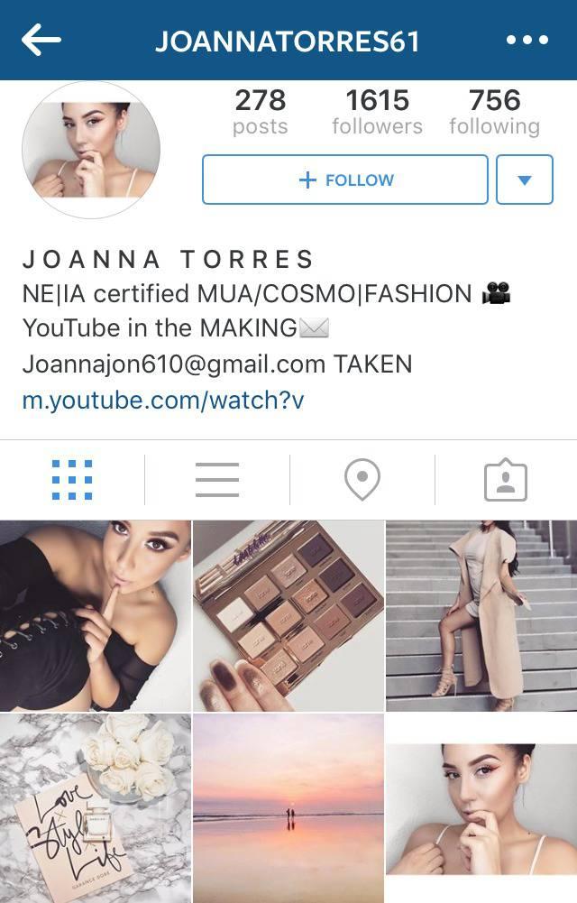 Beauty Instagrammer Joannatorres61