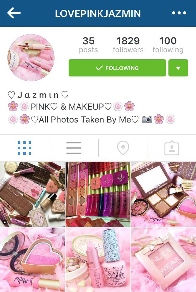 Beauty Instagrammer Lovepinkjazmin