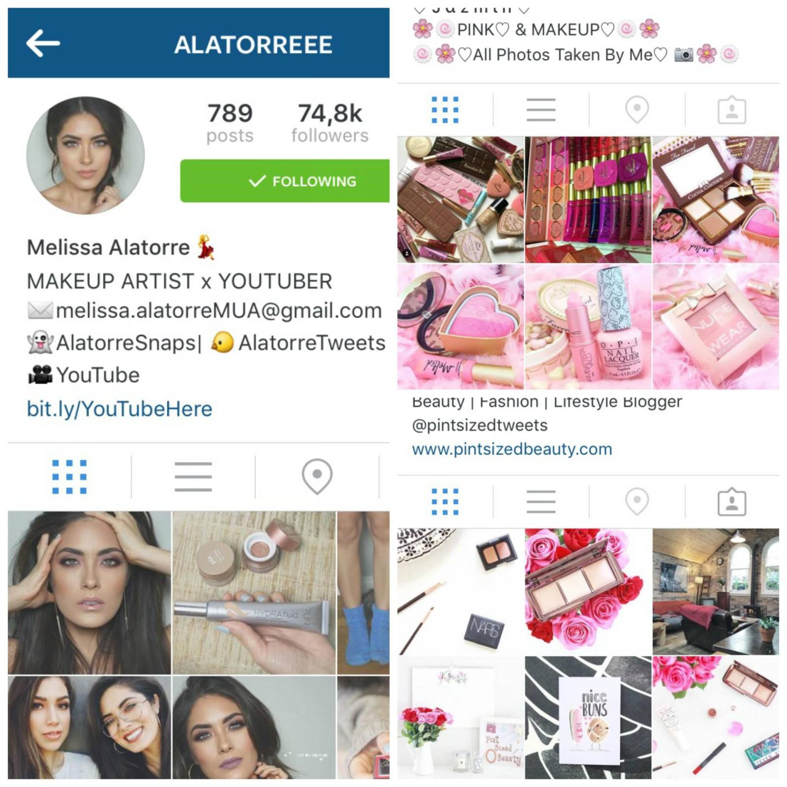Mijn 5 favoriete beauty Instagrammers
