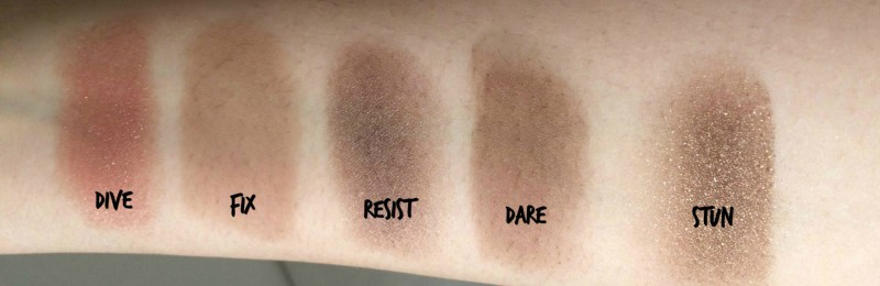 Swatches eyeshadow naked on the run