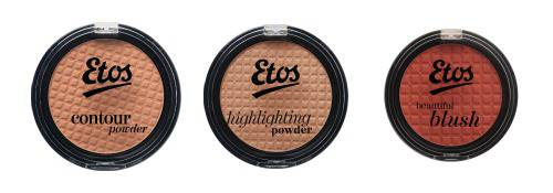 Etos Contour Powder, Etos Highlighting Powder and Etos Beautiful Blush