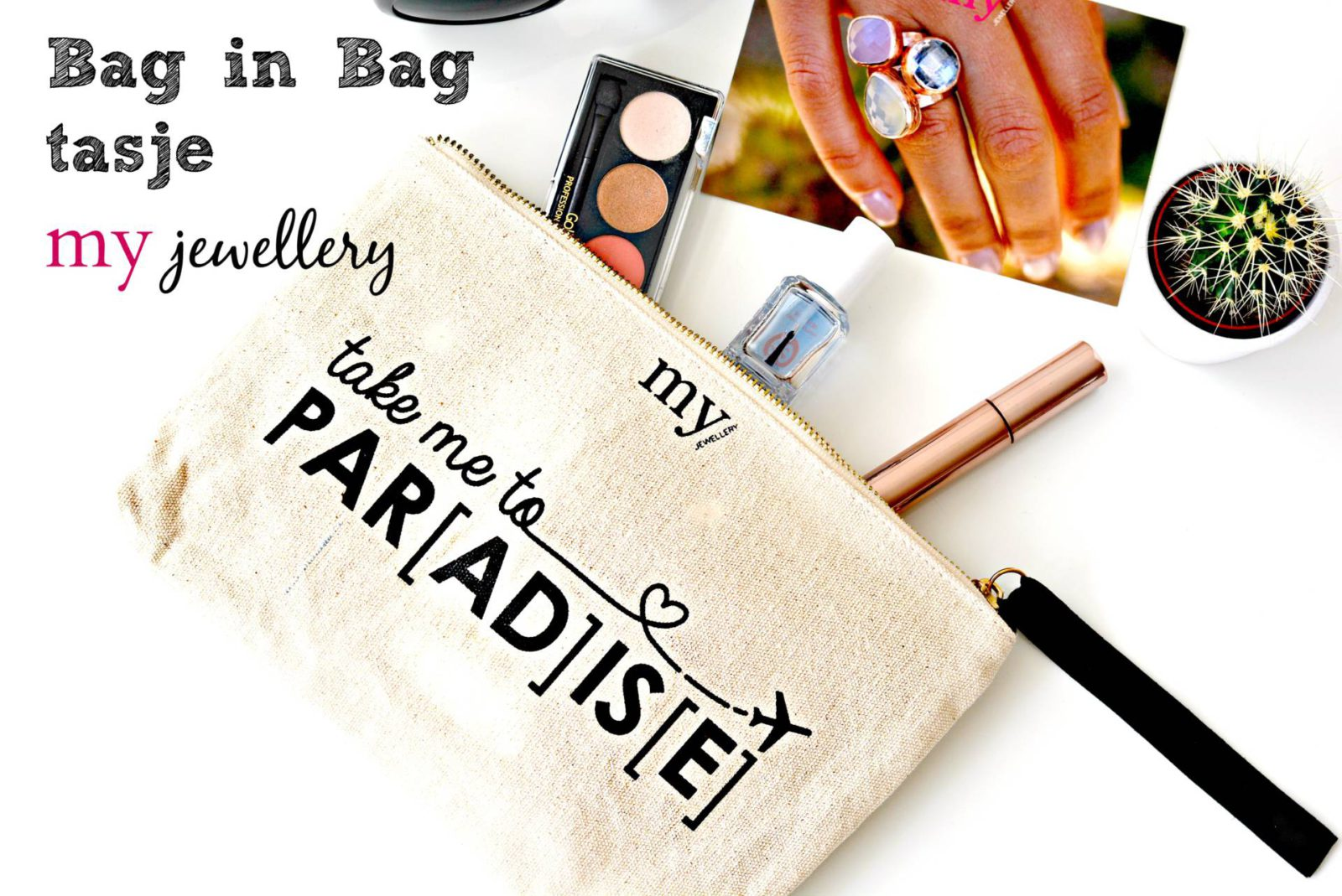 Take me to PARADISE bag in bag tasje My Jewellery