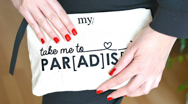 Take me to PARADISE bag in bag clutch imfeelinggood