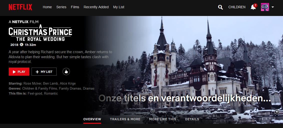 Mooie kerstvakantie films op Netflix A Christmas Prince The Royal Wedding