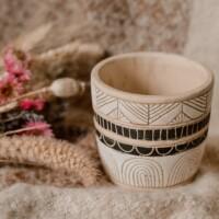 Aardewerk bloempot plantenpot 'Aztec'