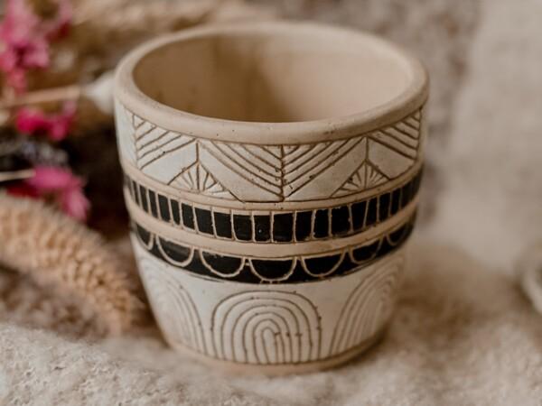 Aardewerk plantenpot bloempot 'Aztec'
