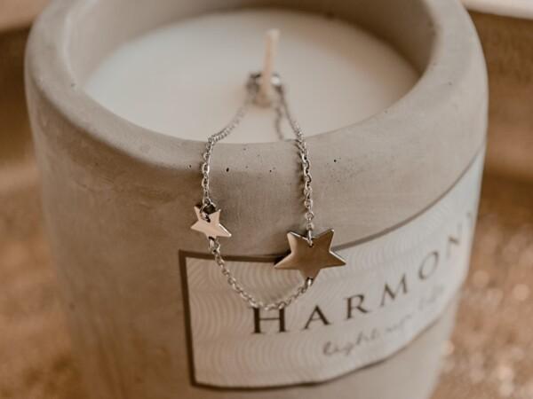 Armband met sterren zilver
