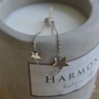 Armband zilver met sterren onbewerkt