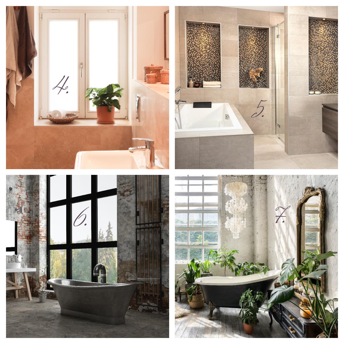 Badkamer interieurstijlen