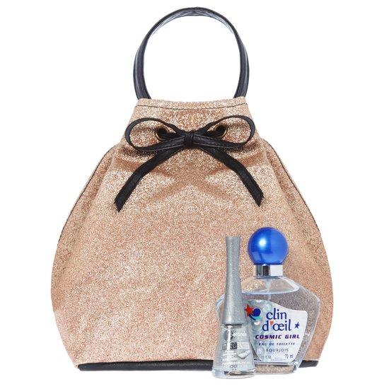 Bourjois Geschenkset Bucket Bag - Cosmic Girl Eau de toillette+ Nagellak 1 seconde It's raining Stars 39