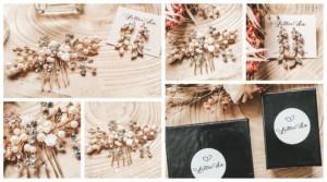 Mijn bruidskapsel, haaraccessoire & oorbellen