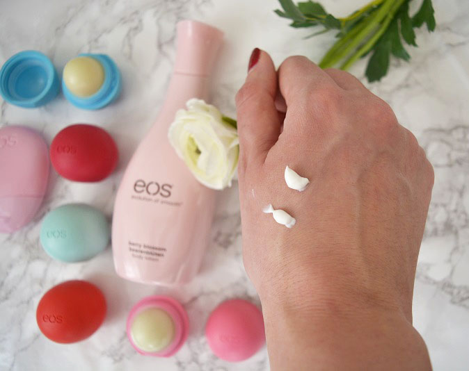 EOS Swatch Handlotion and Bodylotion