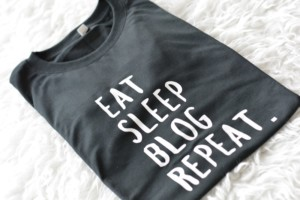 Eat Sleep Blog Repeat t-shirt