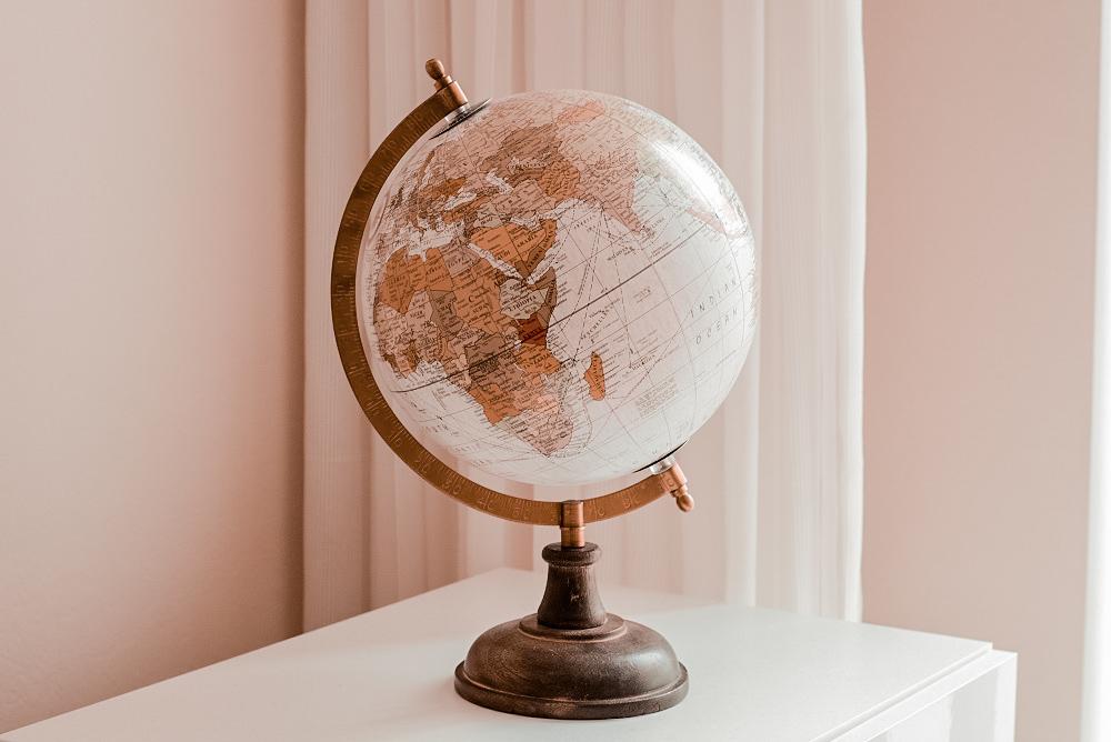 Een wereldbol in je interieur