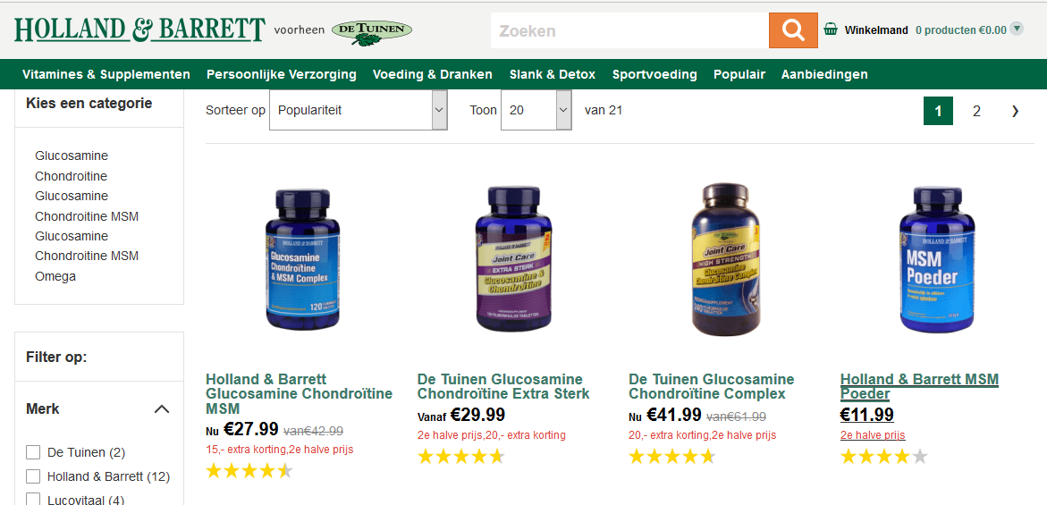 Glucosamine Holland & Barrett