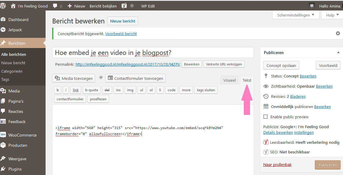 Hoe embed je een video in je blogpost