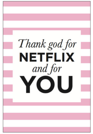 Kaart - Thank god for Netflix image
