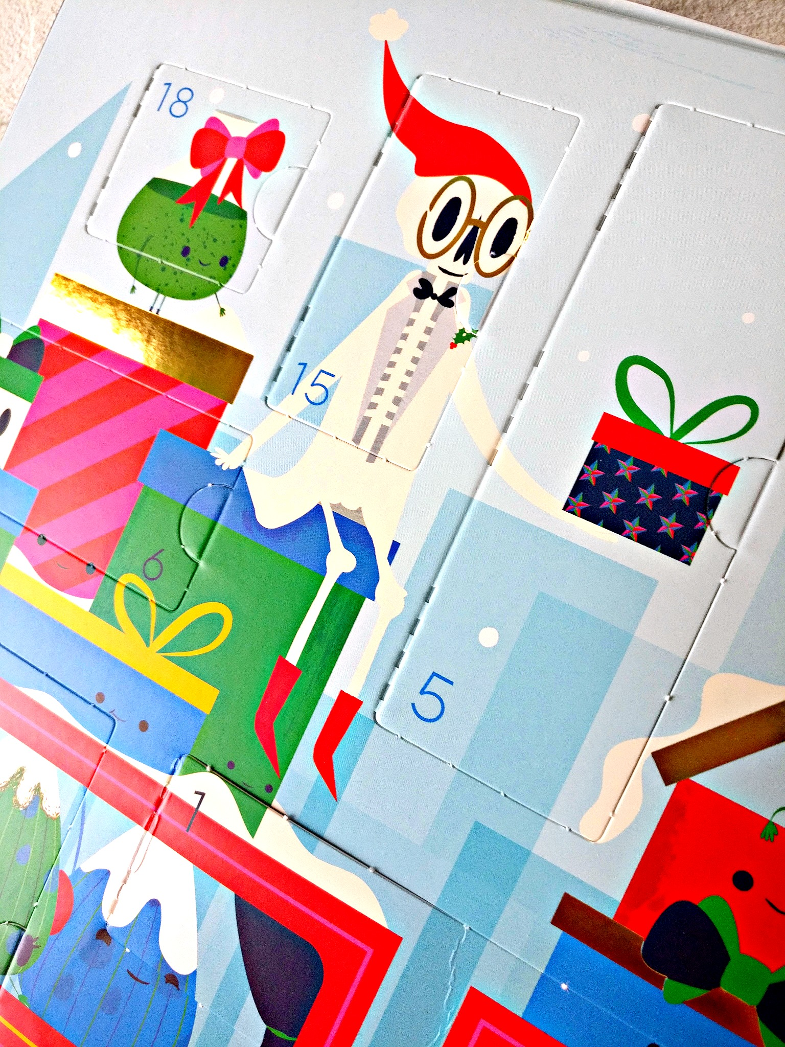 Kiehl's 2018 Limited Edition Adventskalender vakjes