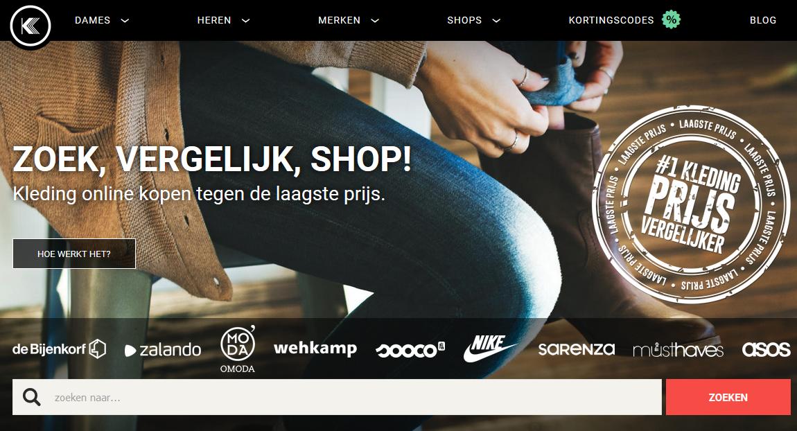 Fashion Kledingkopen vergelijkingswebsite