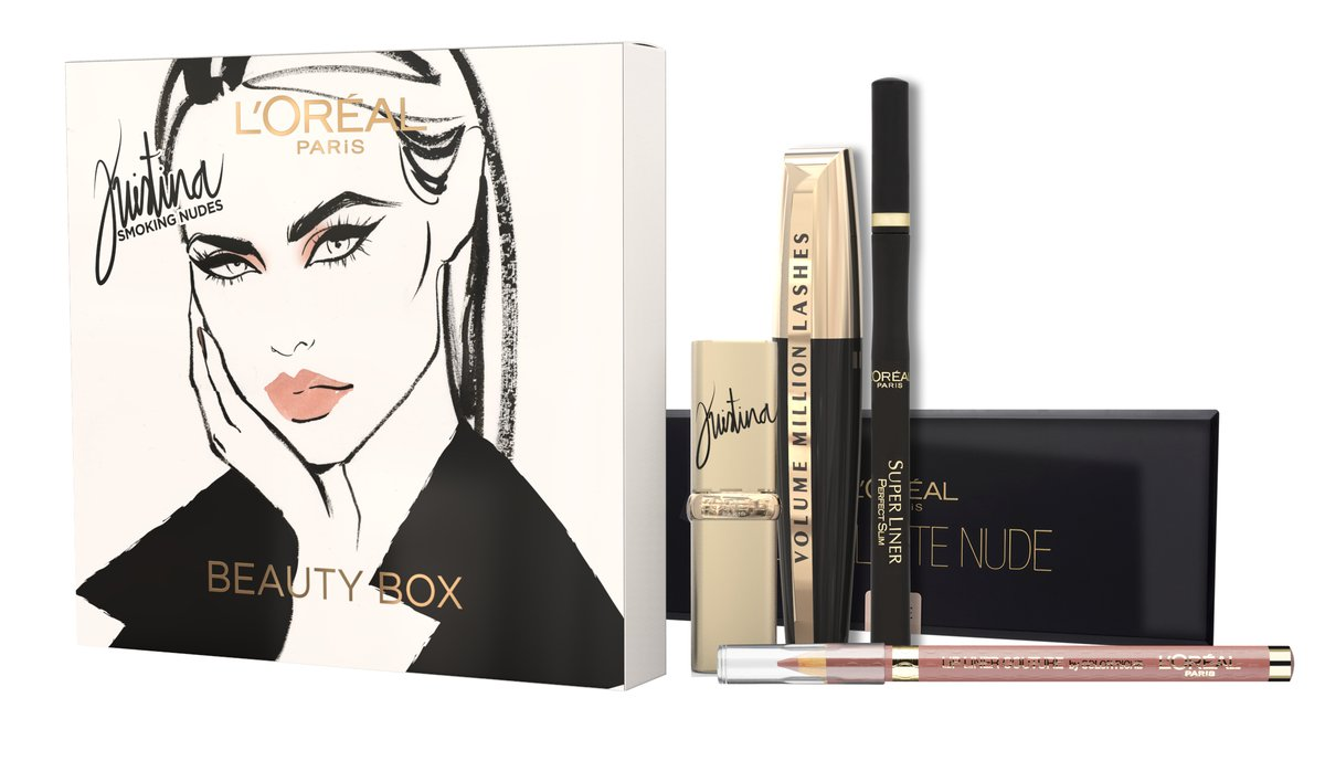 L'Oréal Paris Kristina Bazan Make-up Kit Giftbox - Geschenkset Swatches & look