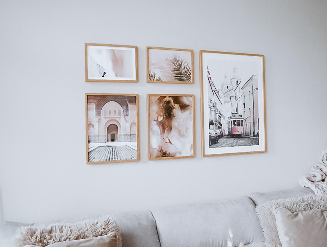 Mooie woonkamer make-over met Poster Store details