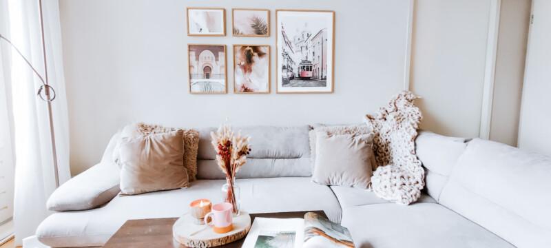 Mooie woonkamer make-over met Poster Store & kortingscode