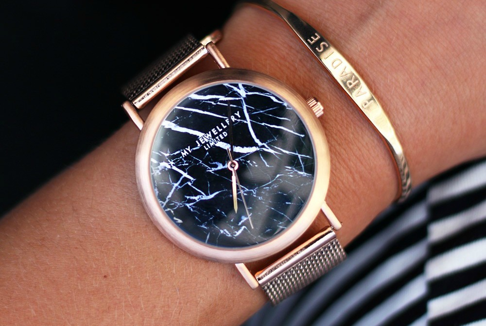 My Jewellery Limited Watch - Rose Black Marble