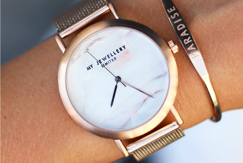 My Jewellery Limited Watch - Rose White Marble