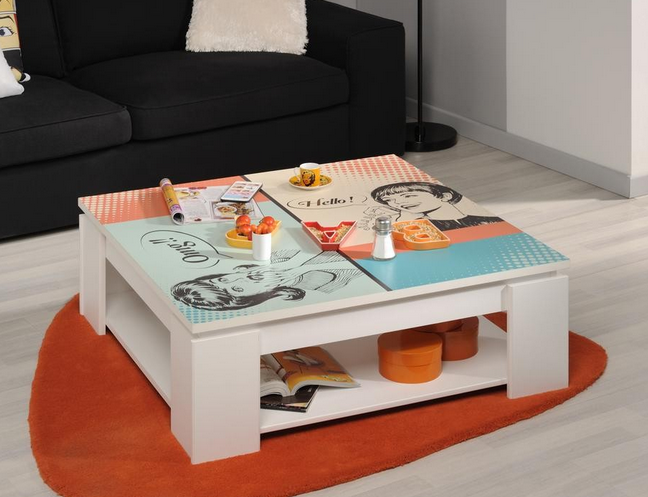 Salontafel Quadri wit - Ladies Emob