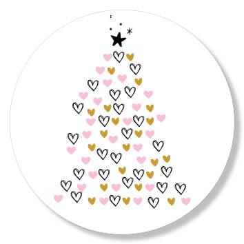 Stickervel - Kerstboom hartjes kerstspulletjes 2017 image