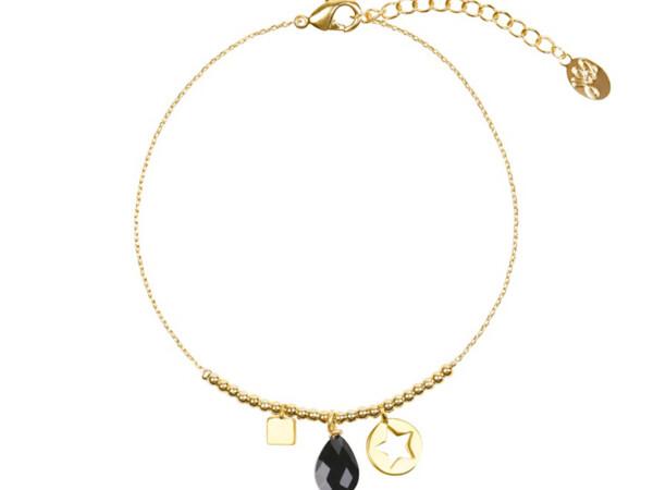 Stone Armband zwart