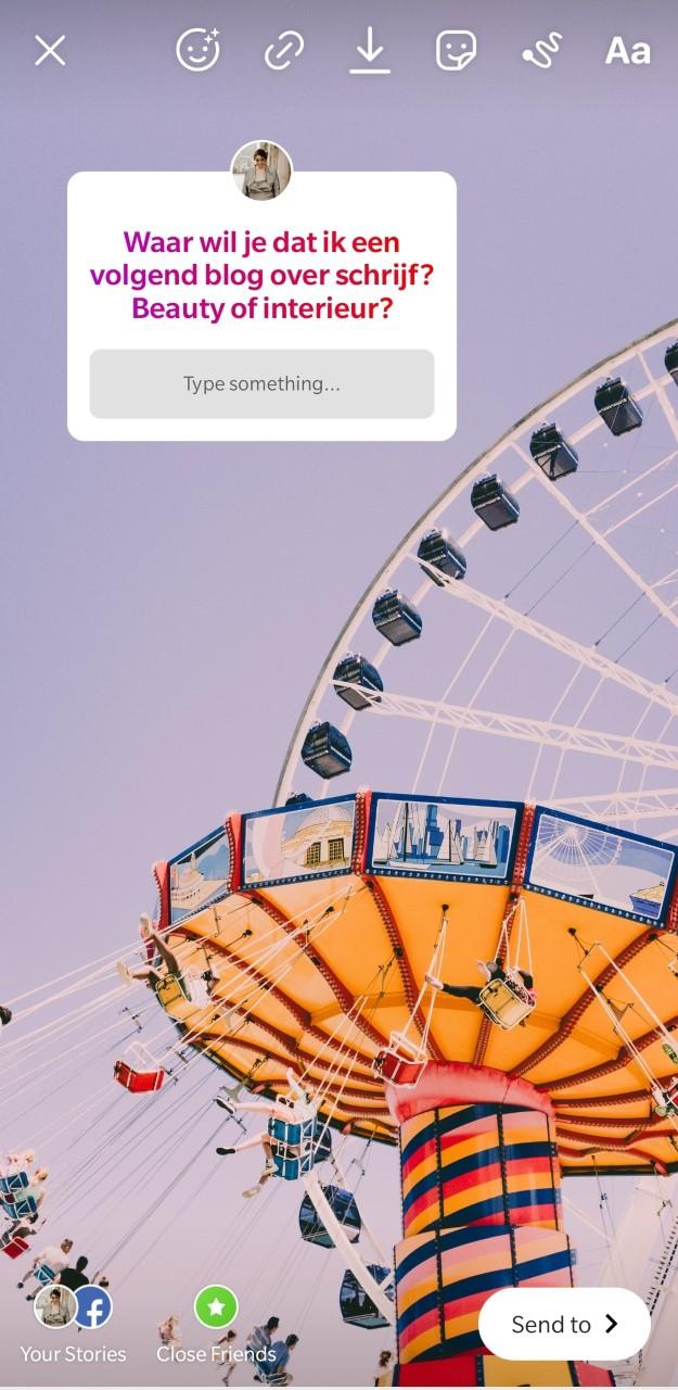 Vragen sticker voor Instagram stories