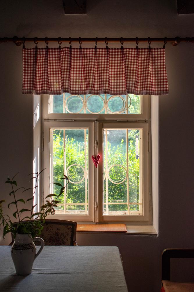 Wonen 5 x prachtige raamdecoratie Afhangende rand stof - valletje
