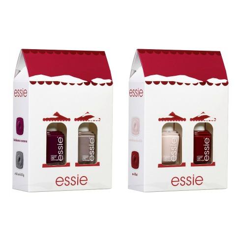 essie Christmas House Bahama Mama + Chinchilly & Mademoiselle + A List